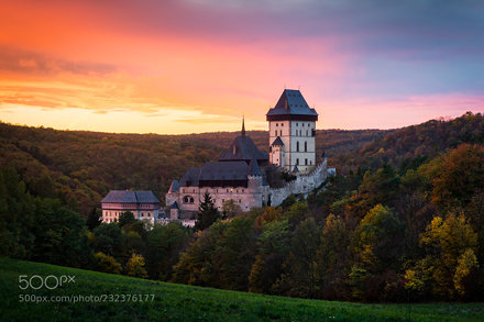 Autumn by Karlstejn Castle