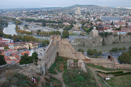 Tbilisi seen from Narikala fortress