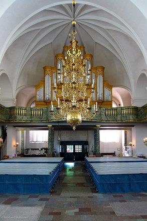 Chandelier, Organ - Katarina kyrka, Södermalm, Stockholm, Sweden