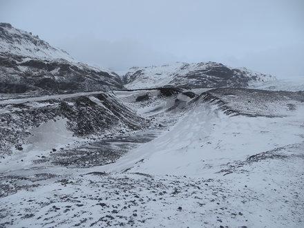 Sólheimajökull Glacier, Iceland, March 2015