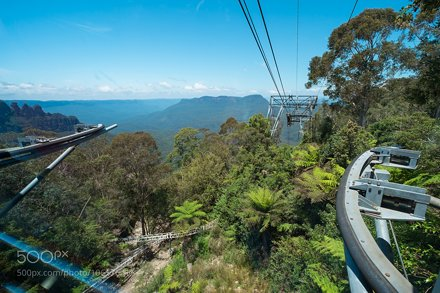 View from  the cable car at Scenic World in the Blue Mountains,