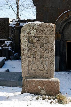 Khachkar in Kecharis monastery, Tsaghkadzor, Armenia