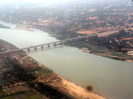 Niamey from the sky