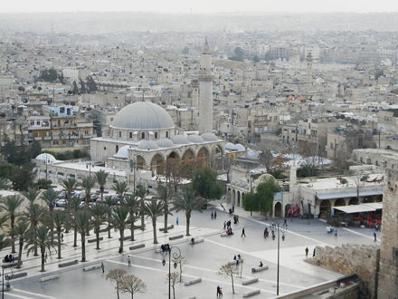 Khusruwiyah Mosque and the Citadel square, Aleppo