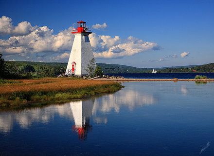 Baddeck Lighthouse on Kidston Island