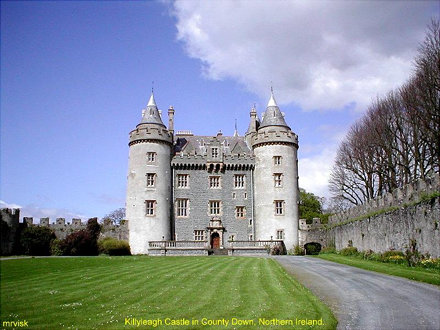 Irish Castles.- killyleagh Castle, County Down in Northern Ireland.
