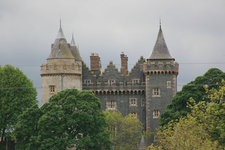 Killyleagh Castle in the trees