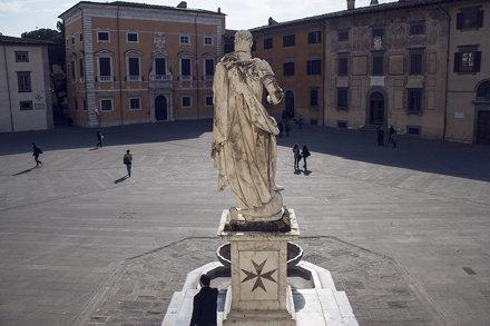 """Cosimo Medici looks over the Piazza dei Cavalieri"""