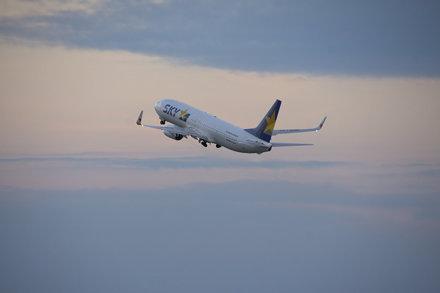 SKYAMRK AIRLINES Boeing 737-800 JA73NR taking off Kobe Airport(UKB/RJBE)