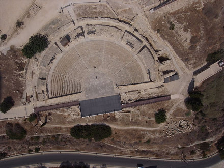Kourion roman theater. Cyprus. Kite aerial photography