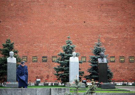 Moscou, la place des grands Hommes.