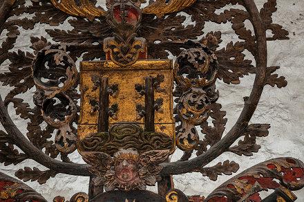 coat of arms, Estonia, Kuressaare, Kuressaare Fortress, Lens Nikon 16-85mm f-3.5-5.6G ED VR DX AF-S