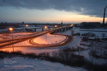 Вид на Кузнецкий мост Кемерово