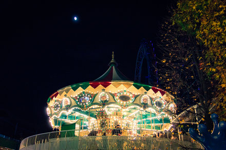 A Merry-go-round under the Moon