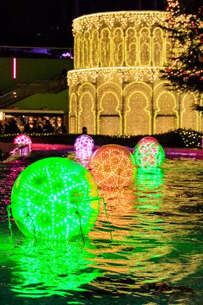 Illuminated Balls on the Water