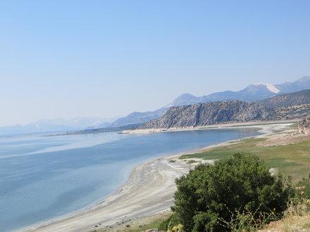Drying shores of Burdur Lake