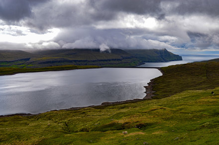 Lake above Eiði, Eysturoy, Faroe Islands