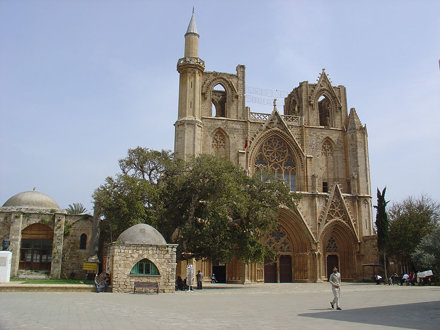Famagusta Cathedral with minaret