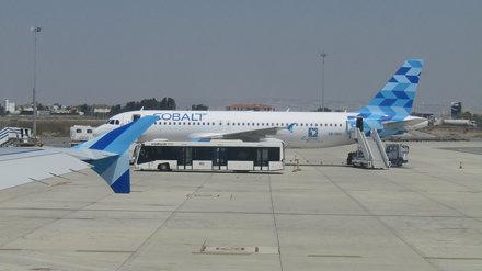 Cobalt Air on the tarmac of Larnaca