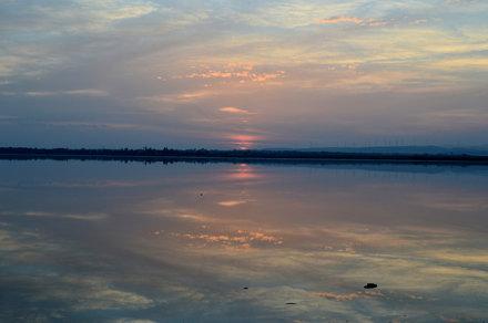 Sunset at Salt lake