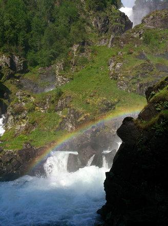 Låtefoss rainbow