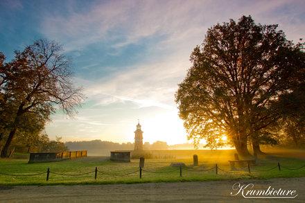 Leuchtturm im Morgennebel