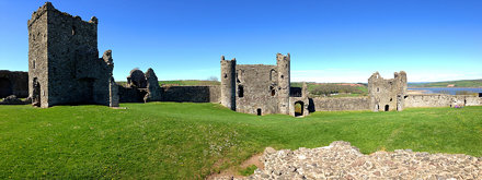 Llansteffan Castle Panoramic