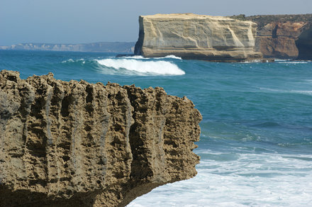 Wave beats rock (eventually)