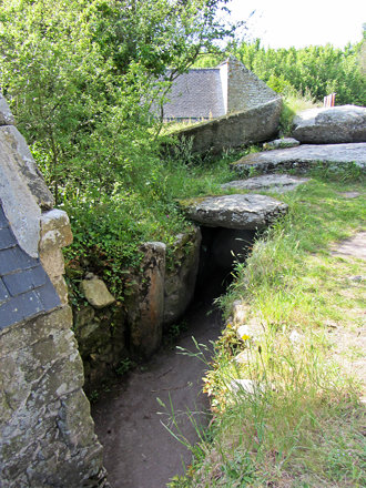 steps down into this dolmen