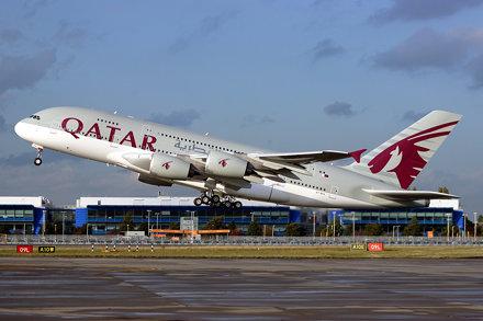 A7-APA A380 137 LHR 10-Oct-14