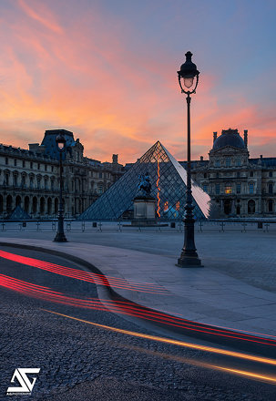 Sunrise on Louvre