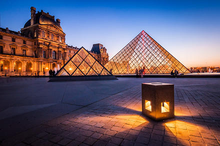 Louvre lights