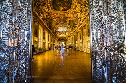 The Grand Interiors of the Louvre Museum