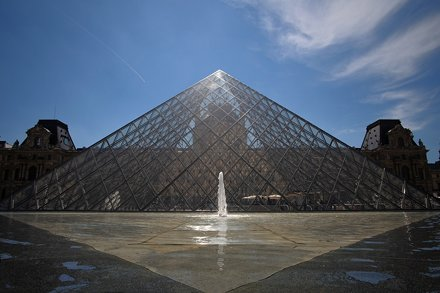 The pyramid of the Louvre. Paris, France