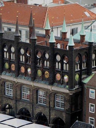 Hôtel de Ville, Altstadt, Lübeck, Schleswig-Holstein, Allemagne.