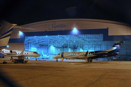 Busy hangar