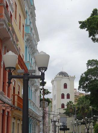 A Torre Malakoff, seen down Rua do Bom Jesus; Recife Antigo, Recife, Brazil