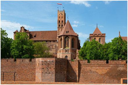 Slot Mariënburg in Malbork, Polen ...