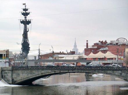 Moscou.- monument de Pierre le Grand