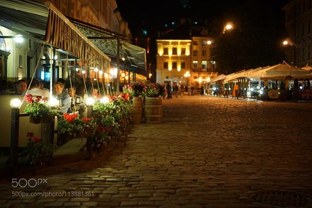 Market Square in Lviv at Night