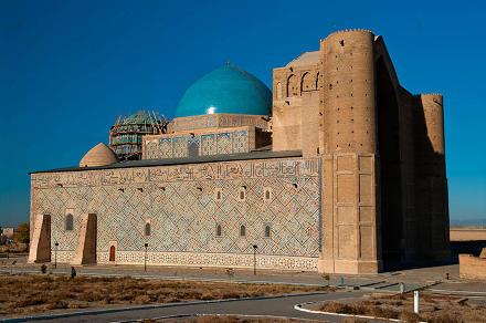 "La mosquée de ""Hodja Ahmad Yasawi"", à Türkistan"