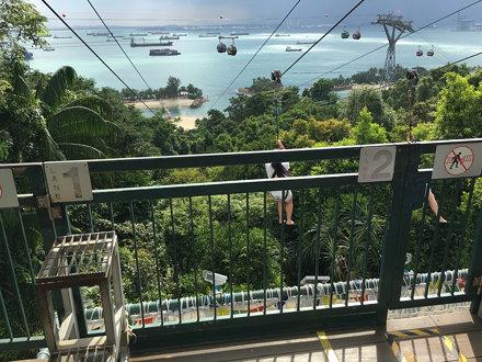 Megazip-zipline ner till stranden