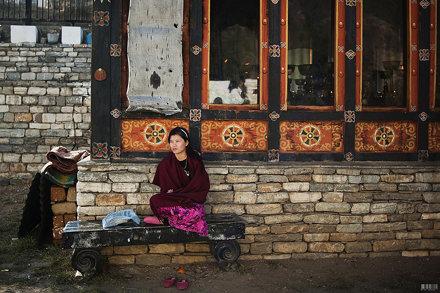 devotee, thimphu bhutan, 2011