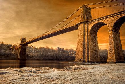 'Infrared Telford' - Menai Suspension Bridge, Anglesey