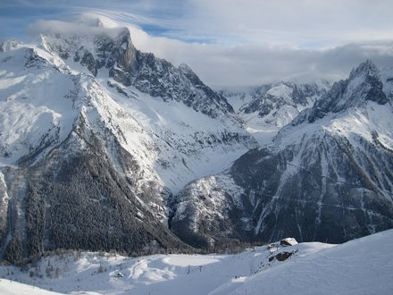 Looking into the Vallée Blanche where you will find the Mer de Glace glacier.