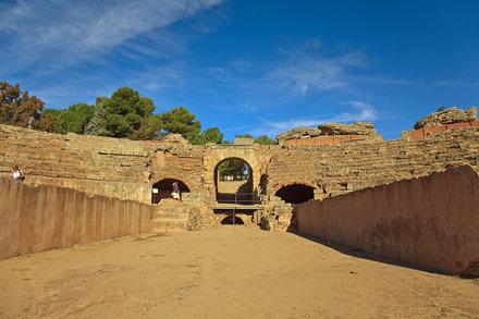 Mérida. Roman Amphitheater. Badajoz. Extremadura. Spain