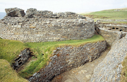 Orkney, Midhowe Broch on Rousay