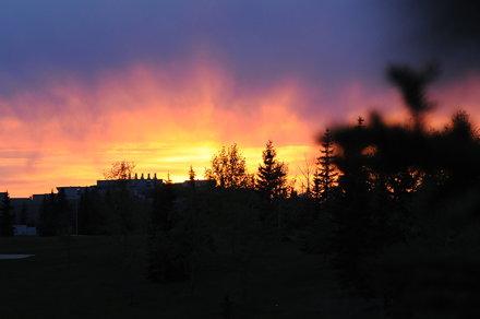 Sunset at Water Park Millwoods (Edmonton)