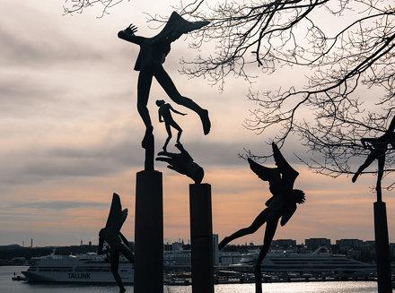 Fun at Millesgården sculpture park