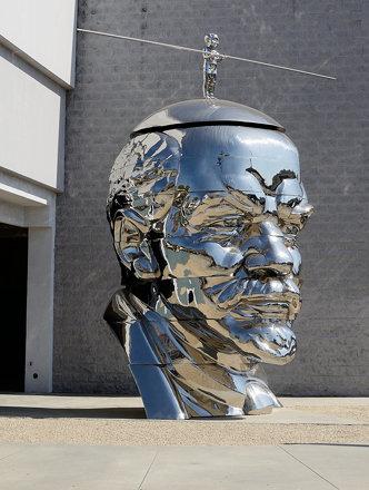 Vladimir Lenin Head Sculpture